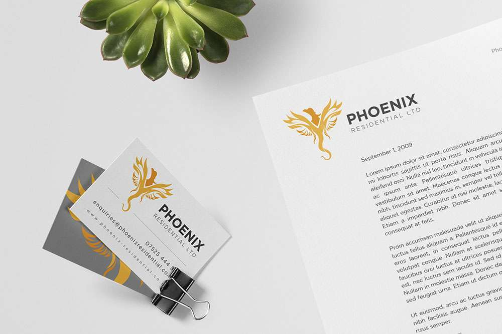 phoenix residential stationery design featured image