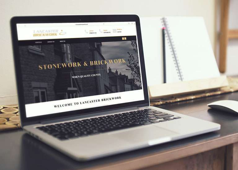 creative design agency lancaster brickwork website