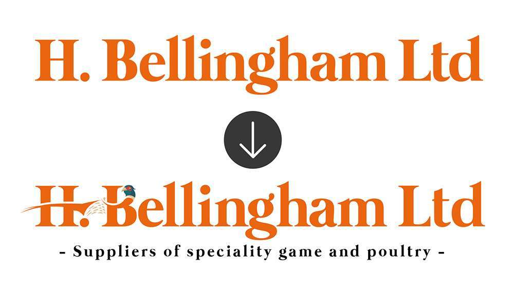 h bellingham old logo to new logo