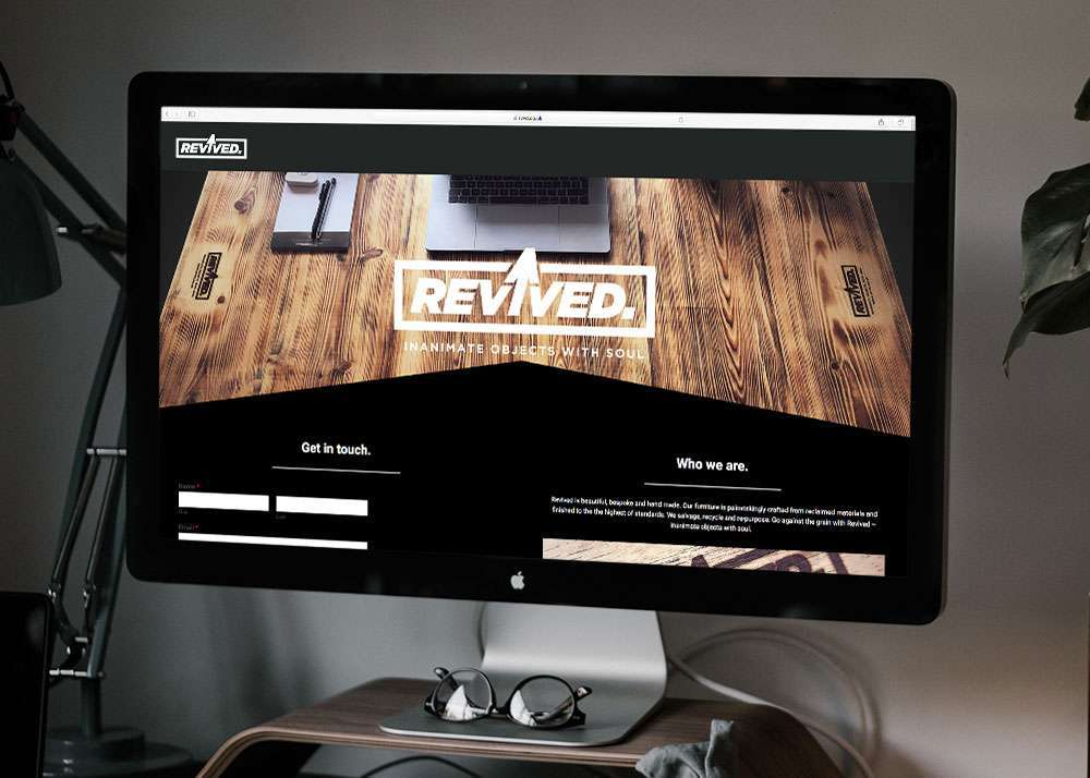Creative design agency revived website landing page